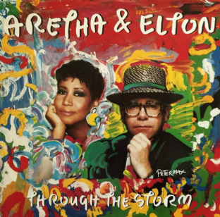 "Aretha Franklin & Elton John - Through The Storm (12"") (G+/VG)"